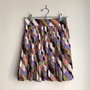 Size 0 Banana Republic multi-color pleated skirt